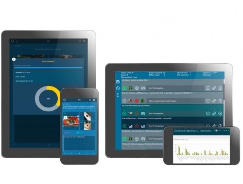 Durchführung der Layered Process Audits auf mobilen Endgeräten