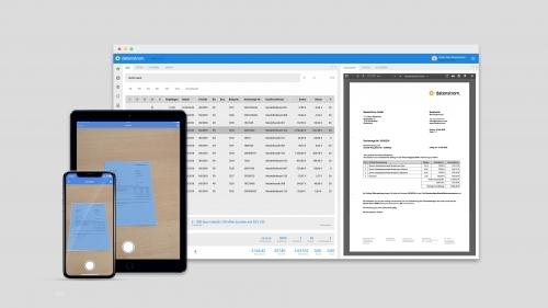 datenstrom Belegerfassung für Web und App (iOS & Android)