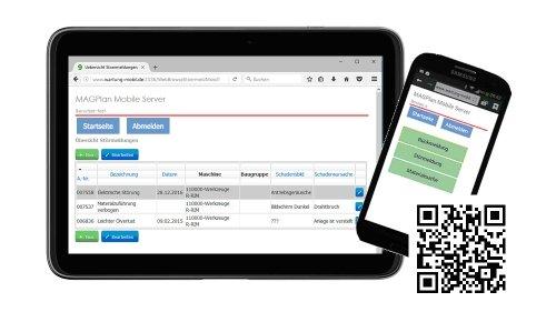 MAGPlan – MAGPlanWeb für Tablets, Smartphones und QR-Codes