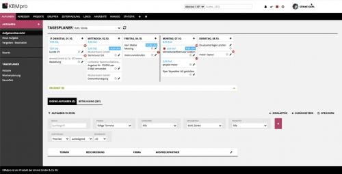 3. Produktbild KBMpro - webbasierte Agentursoftware / Workflow-Management