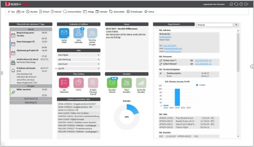 1. Produktbild easyJOB Agentursoftware