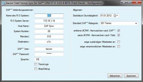1. Produktbild itacom Tobit Termin Synchronisation für SAP™ CRM V7