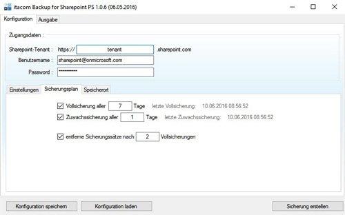2. Produktbild itacom Backup für Sharepoint Online