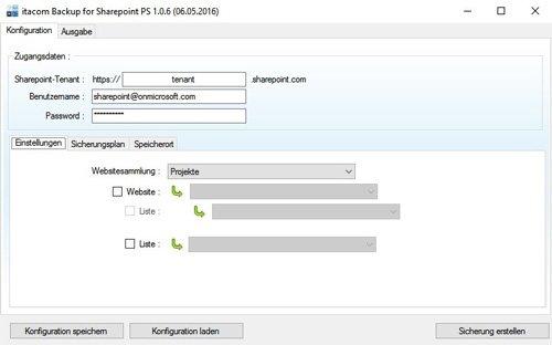 1. Produktbild itacom Backup für Sharepoint Online