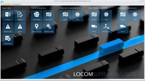 LOCOM Supply Chain Suite - Beispieldarstellung Cockpit Transportoptimierung