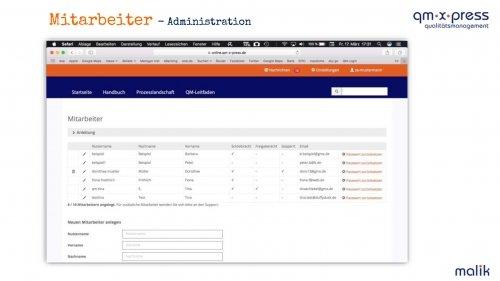 Mitarbeiter - Administration