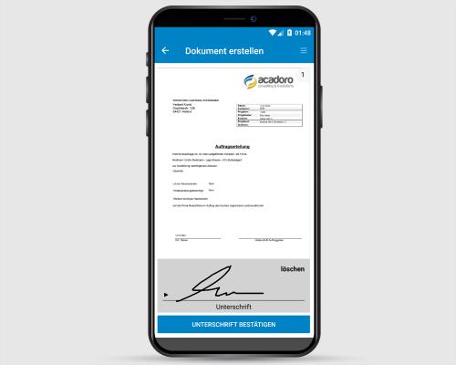 Project-Center Mobile Digitales Signieren