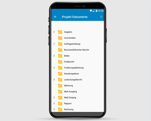 Project-Center Mobile Projektdokumente