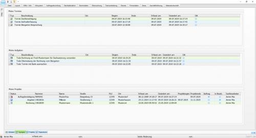 Startseite der Handwerkersoftware Interstar