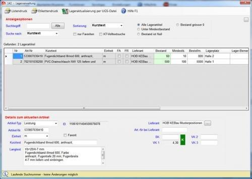 17. Produktbild Abrechnungs- und Kalkulationsprogramm