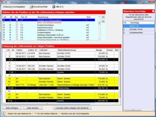 19. Produktbild Abrechnungs- und Kalkulationsprogramm