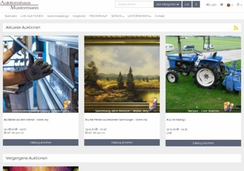 Auktionskataloge, aktuell und vergangene