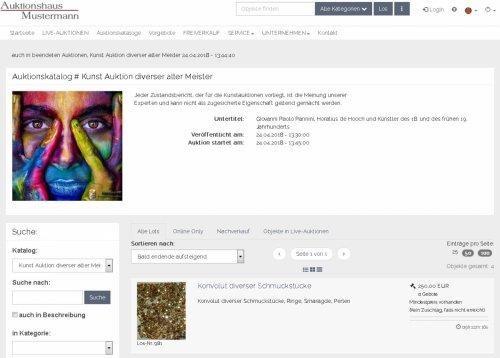 Katalog in Listenform