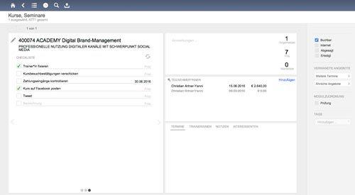 9. Produktbild Marva - Seminarverwaltungssoftware