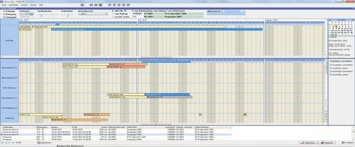 Mitan-Industrie: Gantt-Planung für Produktionsaufträge
