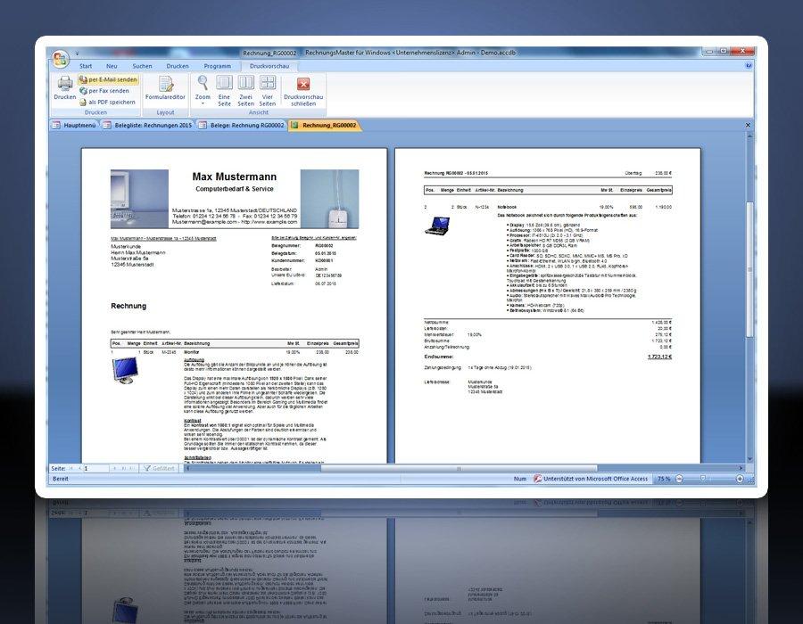 13. Produktbild Rechnungsprogramm RechnungsMaster für Windows