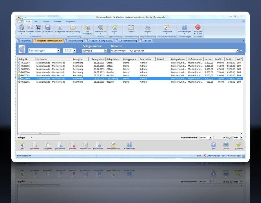 7. Produktbild Rechnungsprogramm RechnungsMaster für Windows