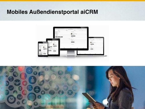1. Produktbild aiCRM - Mobiles CRM für den Außendienst