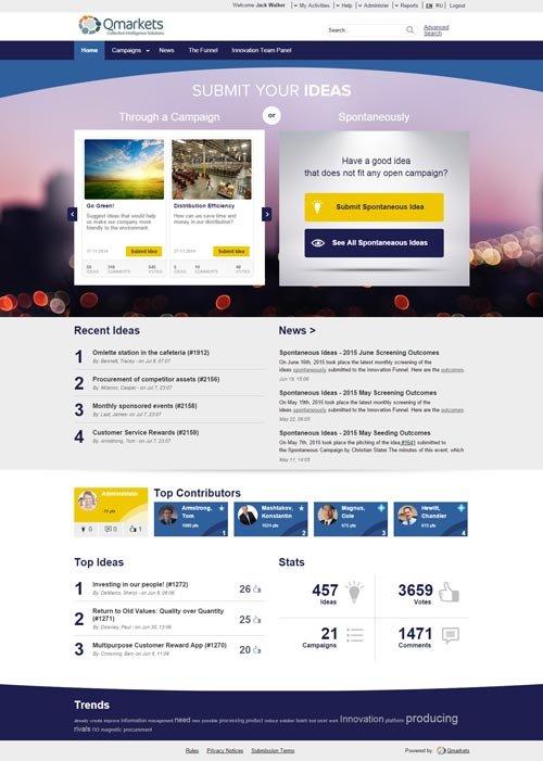3. Produktbild Qmarkets - Innovationsmanagement