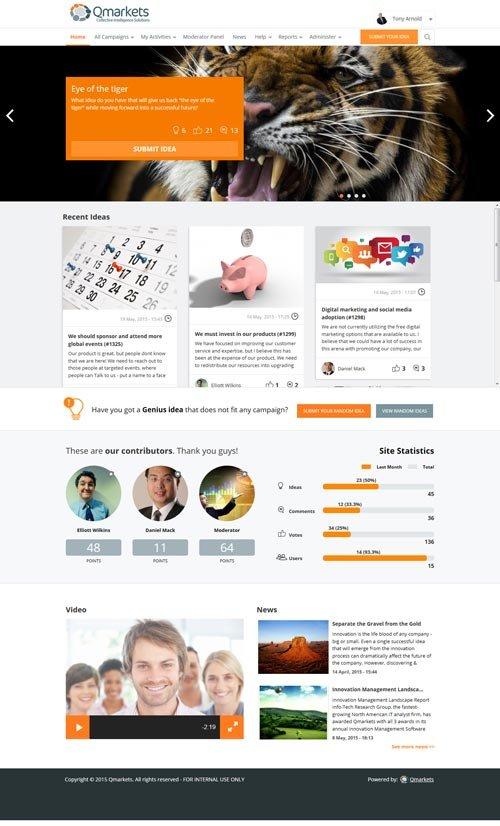 1. Produktbild Qmarkets - Innovationsmanagement