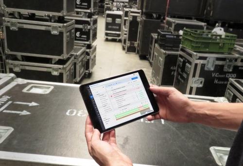 Materialmodul auf iPad