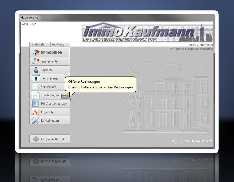 Software: ImmoKaufmann - Immobiliendatenbank