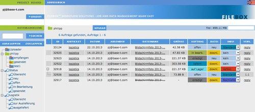 2. Produktbild FILEBOX - Datenübertragungssoftware für Agenturen und Verlage