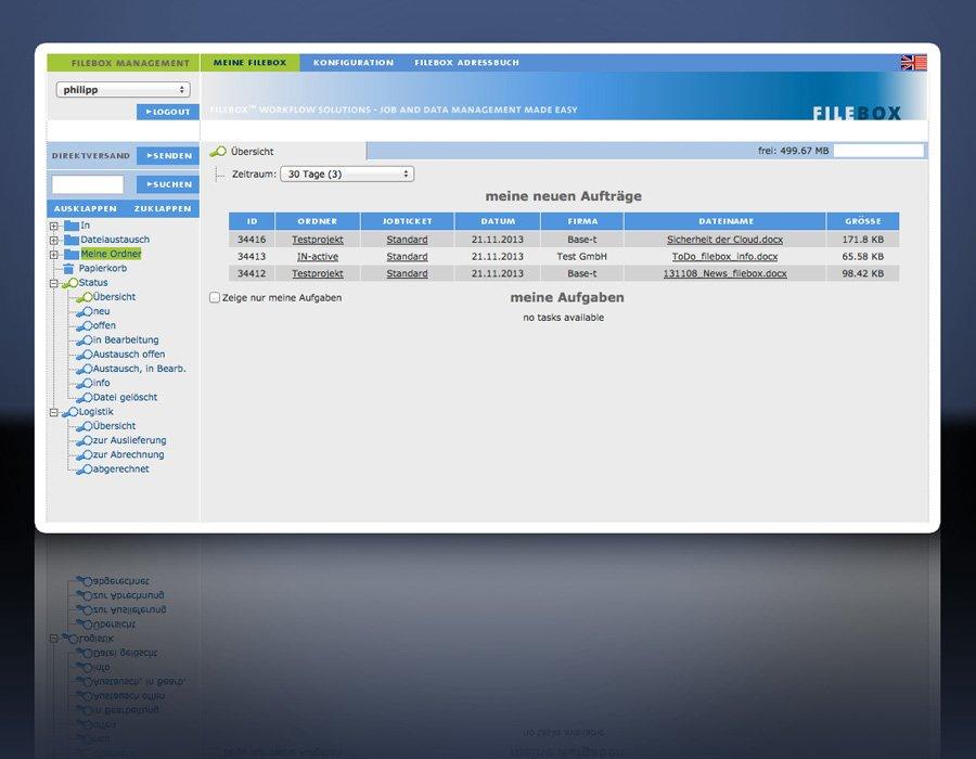 1. Produktbild FILEBOX - Datenübertragungssoftware für Agenturen und Verlage