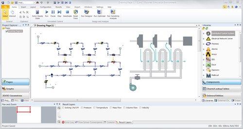 1. Produktbild Flownex®SE - 1D-Strömungssimulation