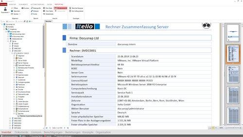 1. Produktbild  Docusnap - Softwarelösung IT Dokumentation