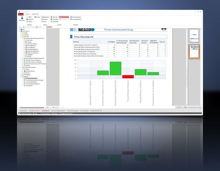 6. Produktbilld Docusnap - Softwarelösung IT Dokumentation