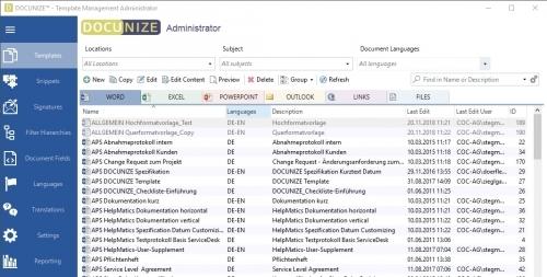 DOCUNIZE Interface Administrator