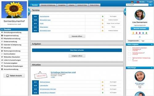 Der Überblick - Alle relevanten Infos sind auf der Startseite untergebracht