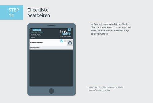 22. Produktbild firstaudit - Digitale Checklisten App