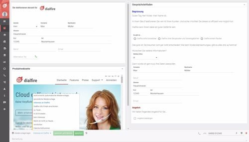 2. Produktbild Dialfire - Outbound Callcenter Software
