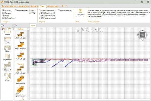 TREPEDIA TREPPENPLANER - 2D Export DXF / DWG