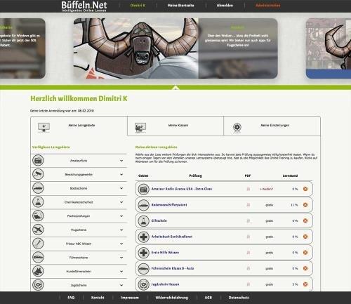 Eigene Startseite mit Newsbanner Büffeln.Net