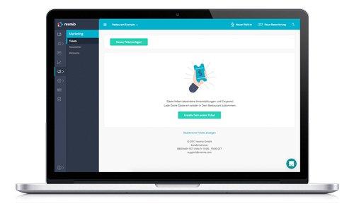 4. Produktbild resmio - Reservierungssystem für Restaurants