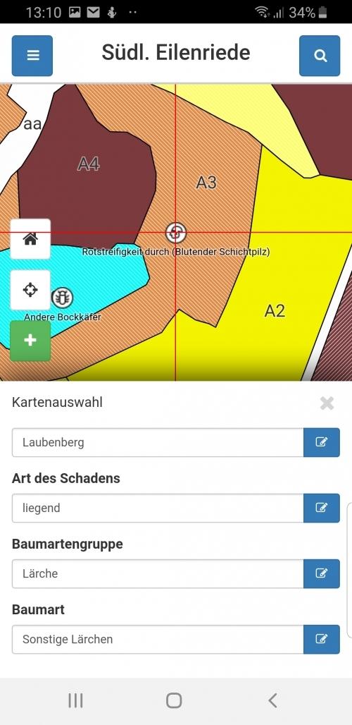 Mobile App: Erfassung von Schadobjekten