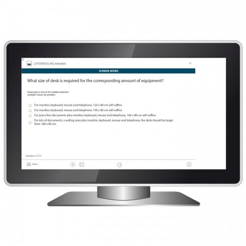 Unterweisung Bildschirmarbeit Kontrollfragen