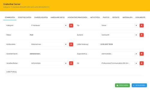 3. Produktbild actidas -  Inventarisierung, Prozessoptimierung