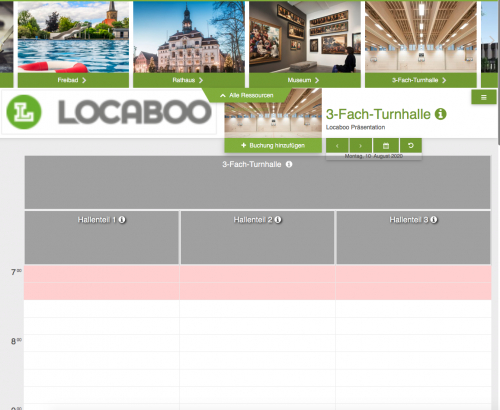 Locaboo Buchungs-Widget (Kundenbuchung)