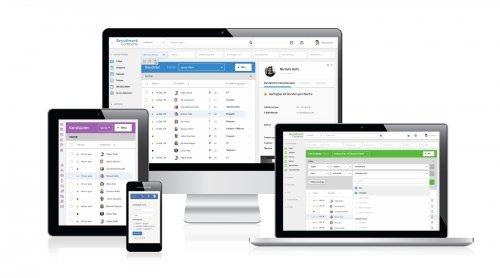 Carerix - Personalvermittlungssoftware auf Desktop, Tablet, Smartphone