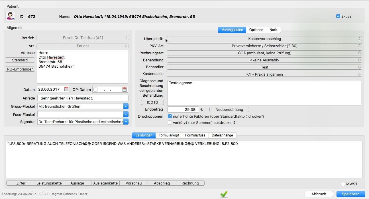 Software Pixelmedic Praxissoftware Patientenakte