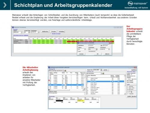 Schichtplan und Arbeitsgruppenkalender