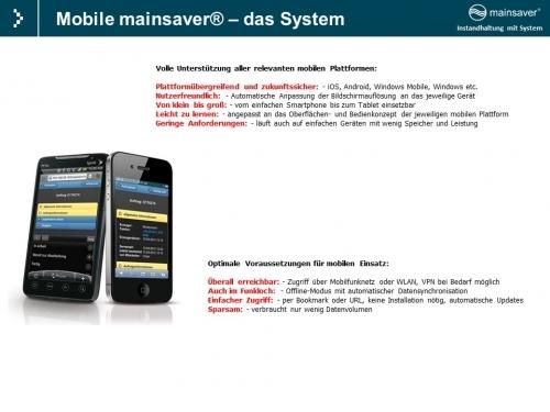 Mobile mainsaver@ -  das System