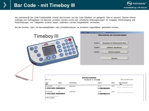 Bar Code -  mit Timeboy 3