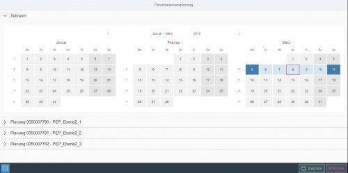 Personaleinsatzplanung Monatssicht