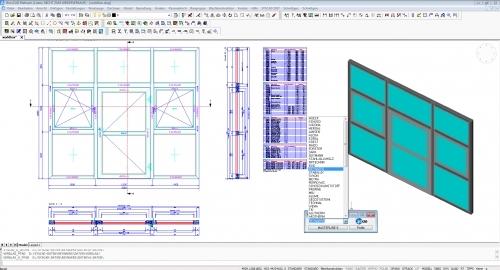 SYSCAD - Applikation für den Metallbau / Fenster / Türen und Fassaden