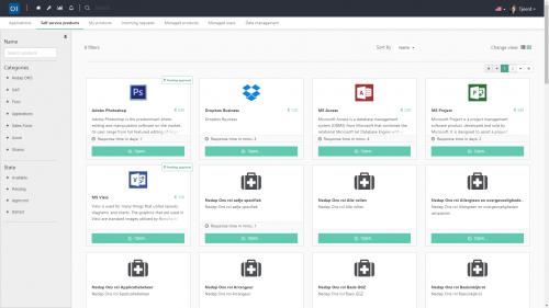 web-basiertes Dashboard mit allen relevanten Anwendungen